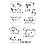 Kaisercraft - Christmas Edition Collection - Clear Acrylic Stamps - Sentiments - Traditional