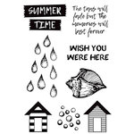 Kaisercraft - Summer Splash Collection - Clear Acrylic Stamps