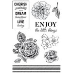 Kaisercraft - Wandering Ivy Collection - Clear Acrylic Stamps