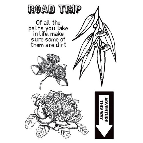 Kaisercraft - Open Road Collection - Clear Acrylic Stamps