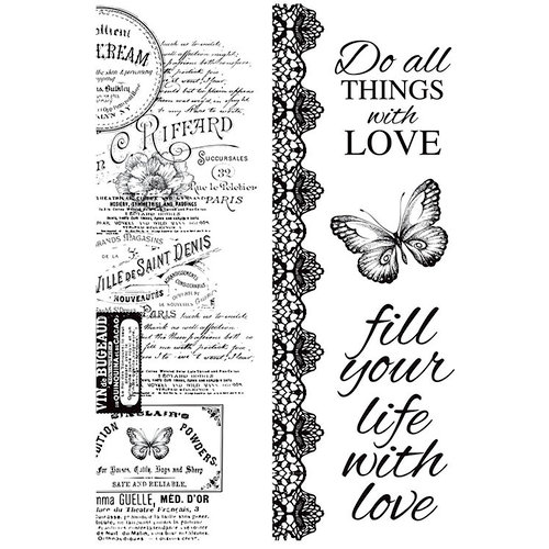 Kaisercraft - Memory Lane Collection - Clear Acrylic Stamps