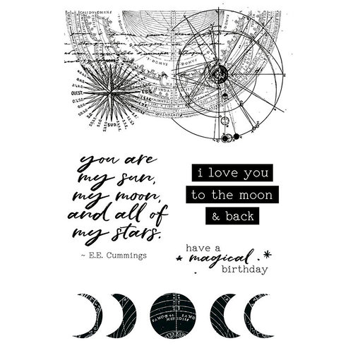 Kaisercraft - Stargazer Collection - Clear Acrylic Stamps