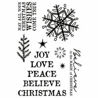 Kaisercraft - Wonderland Collection - Christmas - Clear Acrylic Stamps