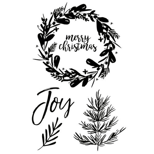 Kaisercraft - Peace and Joy Collection - Christmas - Clear Acrylic Stamps