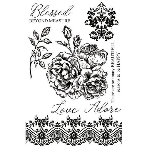Kaisercraft - Rosabella Collection - Clear Acrylic Stamps