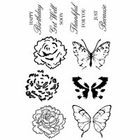 Kaisercraft - With Love Collection - Clear Acrylic Stamps