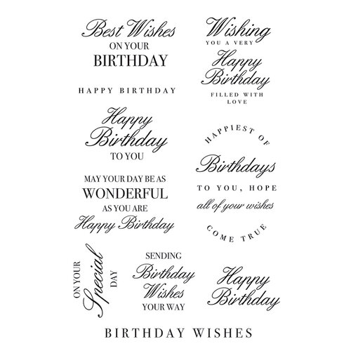 Kaisercraft - Clear Acrylic Stamps - Birthday Wishes