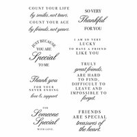 Kaisercraft - Clear Acrylic Stamps - Friendship Sentiment