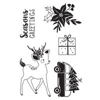 Kaisercraft - Christmas - Peppermint Kisses Collection - Clear Acrylic Stamps