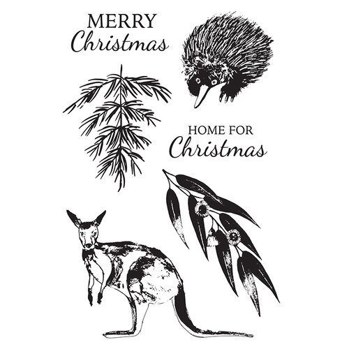 Kaisercraft - Christmas - Under The Gum Leaves Collection - Clear Acrylic Stamps