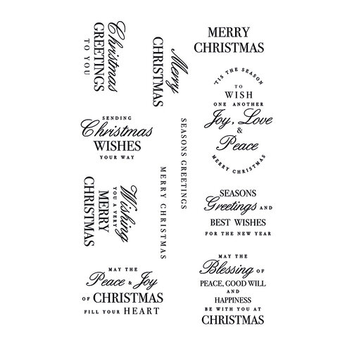 Kaisercraft - Clear Acrylic Stamp - Christmas Greetings