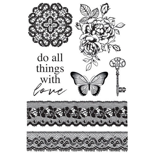 Kaisercraft - Lady Like Collection - Clear Acrylic Stamps