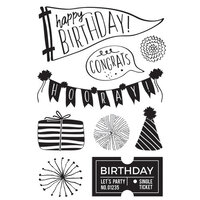 Kaisercraft - Oh Happy Day Collection - Clear Acrylic Stamps