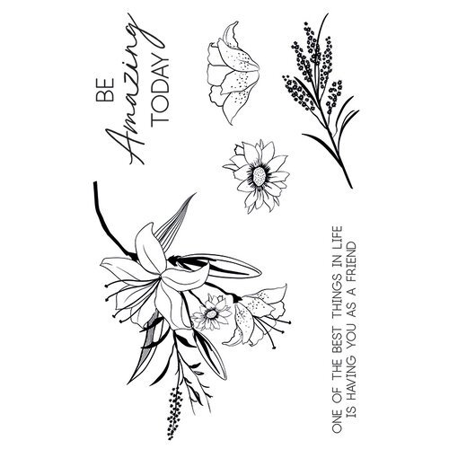 Kaisercraft - Lily and Moss Collection - Clear Acrylic Stamps