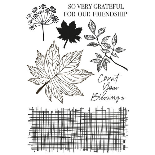 Kaisercraft - Fallen Leaves Collection - Clear Acrylic Stamps