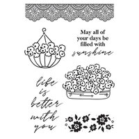 Kaisercraft - Flower Shoppe Collection - Clear Acrylic Stamps