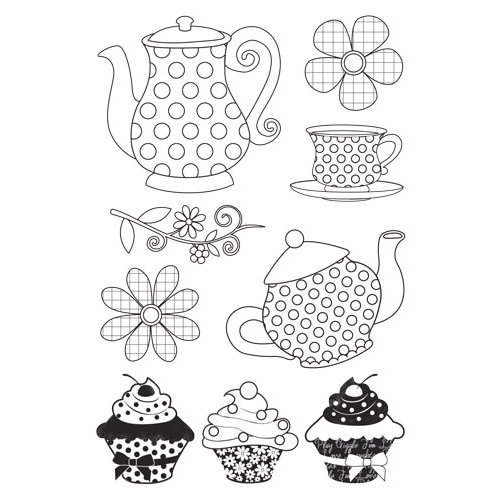Kaisercraft - Candy Lane Collection - Clear Acrylic Stamps