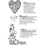 Kaisercraft - Love Notes Collection - Valentine - Clear Acrylic Stamps