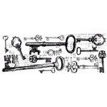 Kaisercraft - Timeless Collection - Clear Acrylic Stamps - Keys