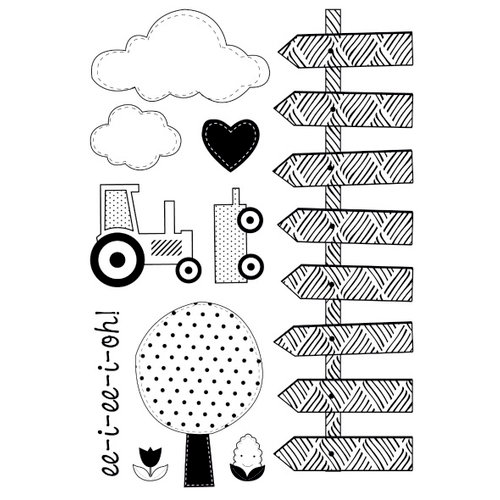 Kaisercraft - Cock-a-doodle-doo Collection - Clear Acrylic Stamp