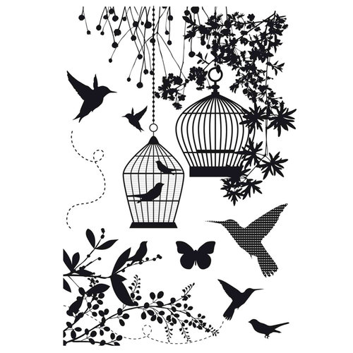 Kaisercraft - Hummingbird Collection - Clear Acrylic Stamp