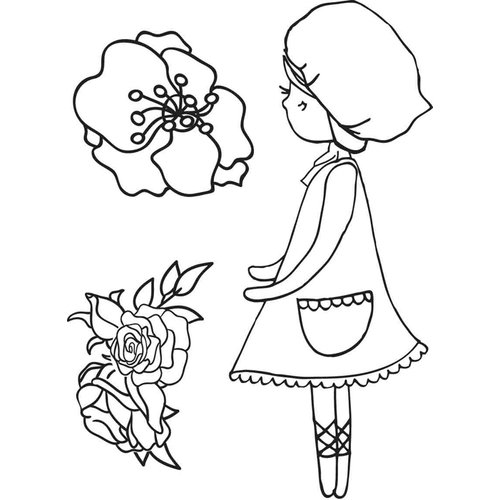 Kaisercraft - Lil' Primrose Collection - Clear Acrylic Stamp - Blooms