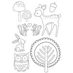 Kaisercraft - Tiny Woods Collection - Clear Acrylic Stamp