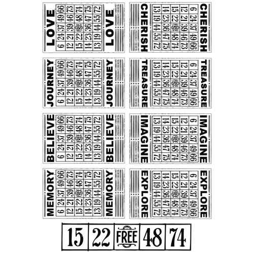 Kaisercraft - Miss Match Collection - Clear Acrylic Stamp - Bingo Cards
