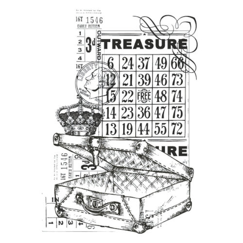 Kaisercraft - Vintage - Clear Acrylic Stamp - Treasure