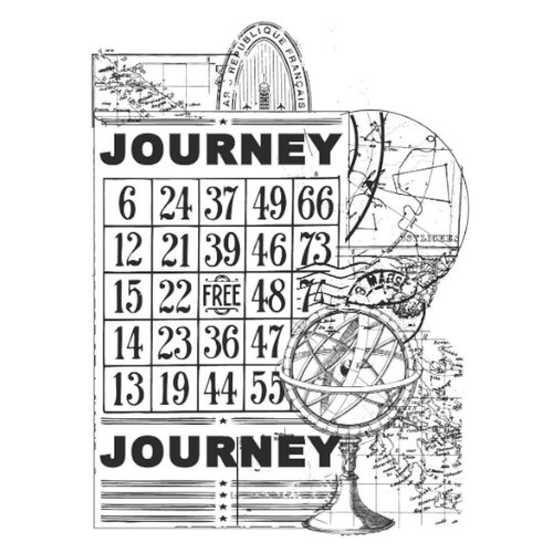 Kaisercraft - Vintage - Clear Acrylic Stamp - Journey