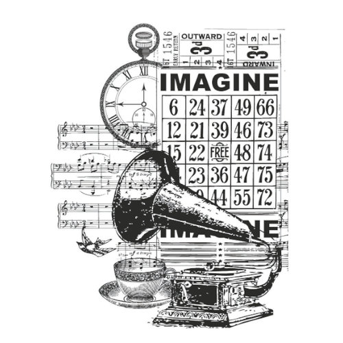 Kaisercraft - Vintage - Clear Acrylic Stamp - Imagine