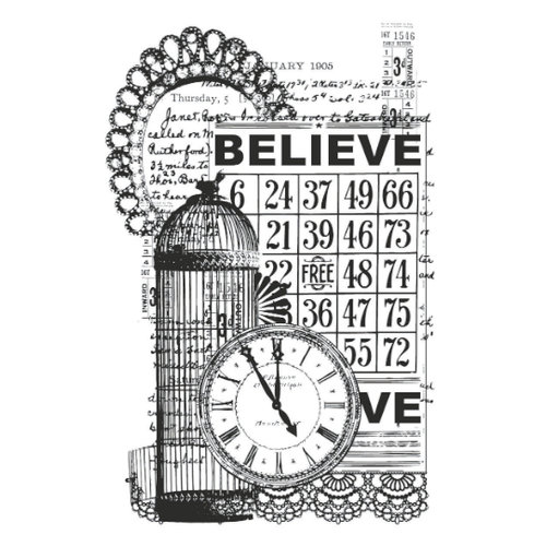 Kaisercraft - Vintage - Clear Acrylic Stamp - Believe