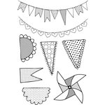 Kaisercraft - Save the Date Collection - Clear Acrylic Stamp - Pennants