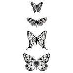 Kaisercraft - Texture - Clear Acrylic Stamp - Butterflies