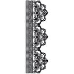 Kaisercraft - Texture - Clear Acrylic Stamp - Scallop Lace