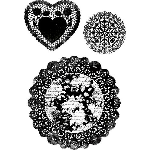 Kaisercraft - Secret Admirer Collection - Clear Acrylic Stamp - Doilies