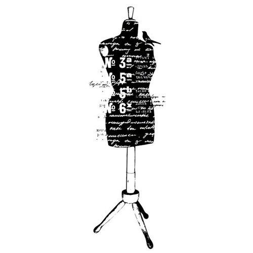 Kaisercraft - Texture - Clear Acrylic Stamp - Dress Form