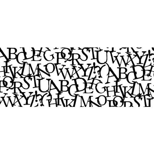 Kaisercraft - Texture - Clear Acrylic Stamp - Alphabet