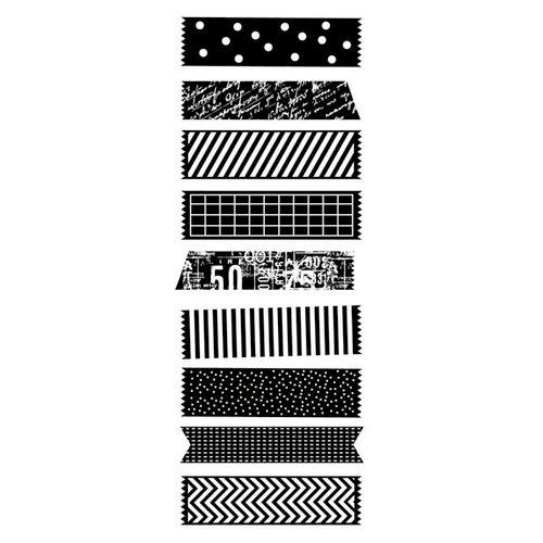 Kaisercraft - Texture - Clear Acrylic Stamp - Decorative Tape Pieces