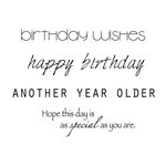 Kaisercraft - Clear Acrylic Stamps - Mini - Birthday