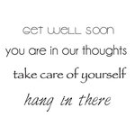 Kaisercraft - Clear Acrylic Stamps - Mini - Get Well
