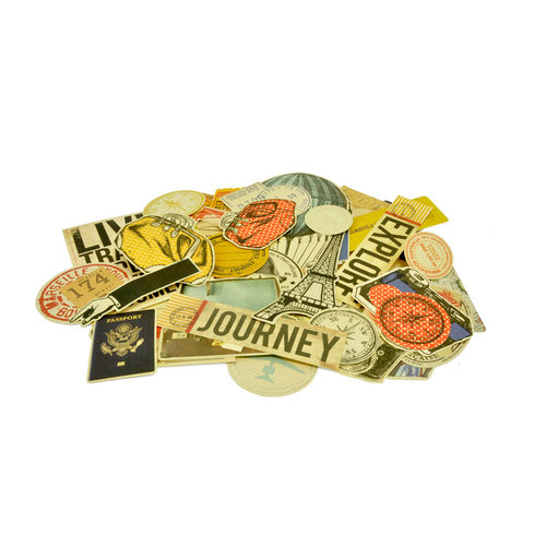 Kaisercraft - Check-in Collection - Collectables - Die Cut Cardstock Pieces