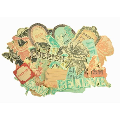 Kaisercraft - Periwinkle Collection - Collectables - Die Cut Cardstock Pieces