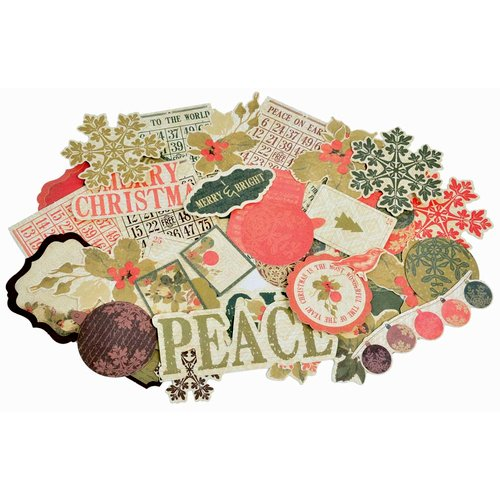 Kaisercraft - Merry and Bright Collection - Christmas - Collectables - Die Cut Cardstock Pieces