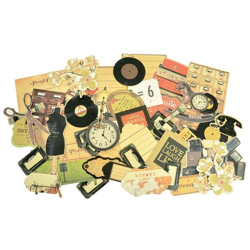 Kaisercraft - In the Attic Collection - Collectables - Die Cut Cardstock Pieces