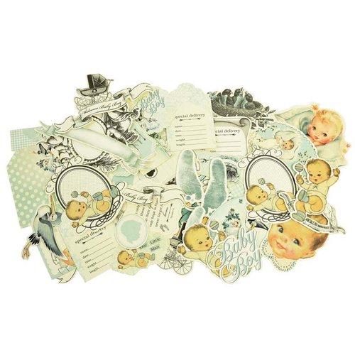 Kaisercraft - Bundle of Joy Collection - Collectables - Die Cut Cardstock Pieces - Boy