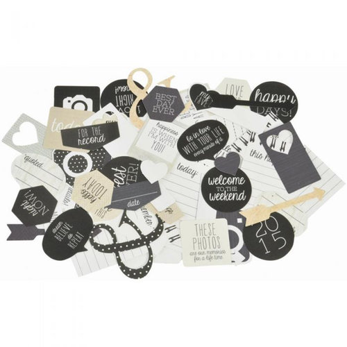 Kaisercraft - Hello Today Collection - Collectables - Die Cut Cardstock Pieces