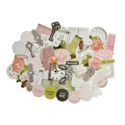 Kaisercraft - Cottage Rose Collection - Collectables - Die Cut Cardstock Pieces