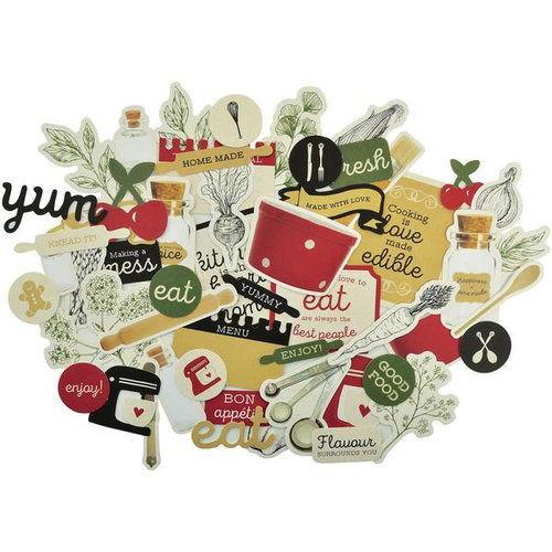 Kaisercraft - Bon Appetit Collection - Collectables - Die Cut Cardstock Pieces