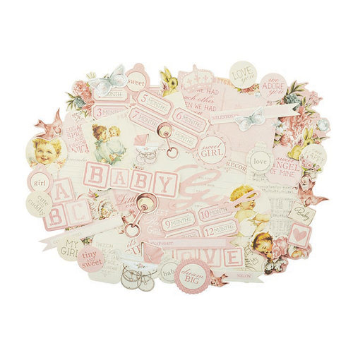 Kaisercraft - Peek-A-Boo Collection - Collectables - Die Cut Cardstock Pieces - Girl